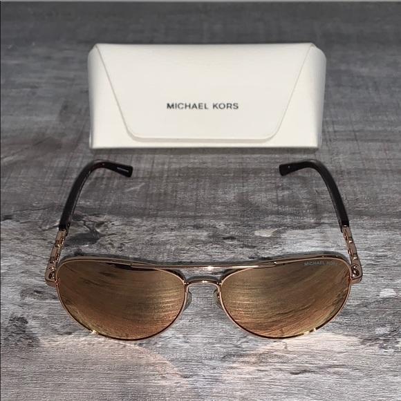 Michael Kors Chainlink Aviator Sunglasses Women's